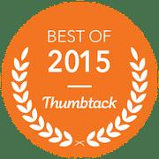 Best of Thumbtack 2015 Pro Mow Award Icon